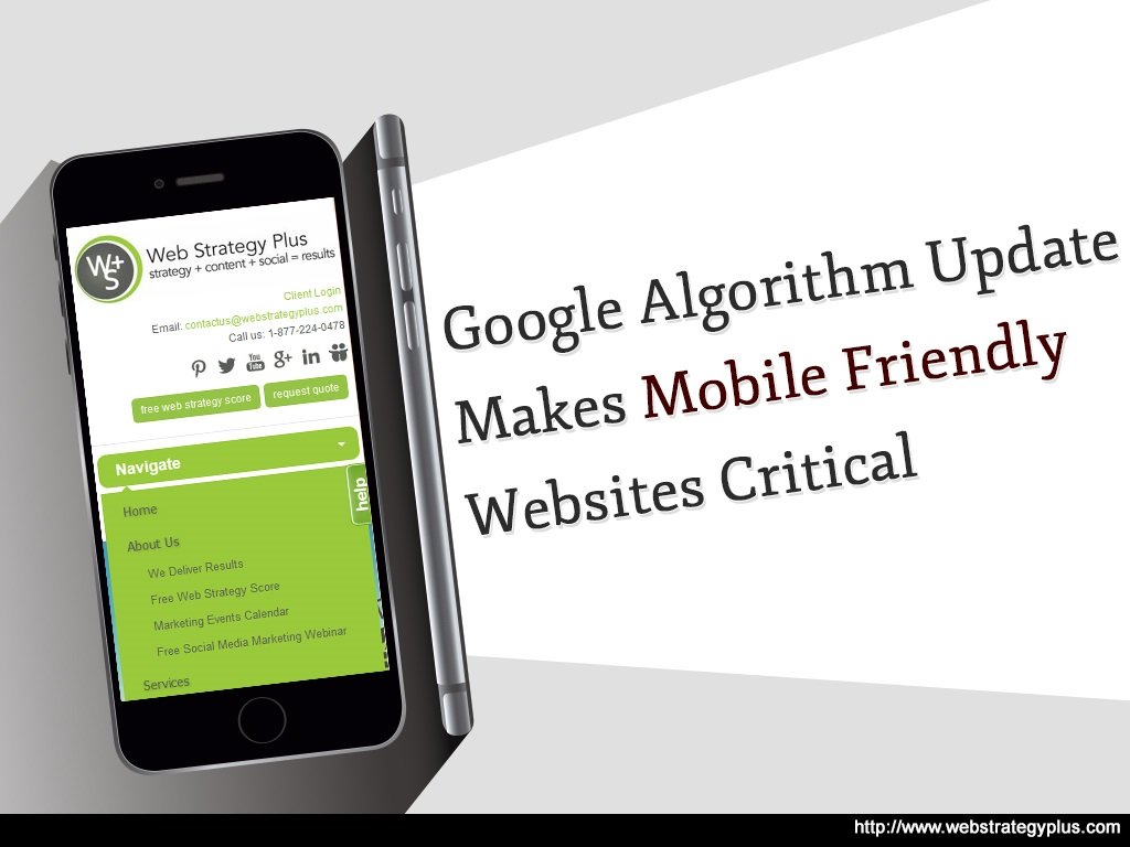 Google SEO Algorithm Update Makes Mobile Friendly Websites Critical